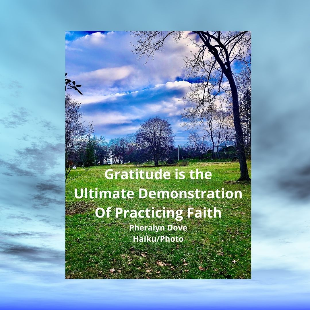Gratitude is the Ultimate Demonstration Of Practicing Faith Pheralyn Dove Haiku_Photo-2